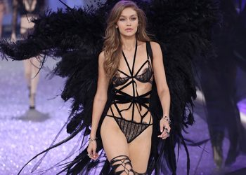 Mandatory Credit: Photo by Matt Baron/BEI/Shutterstock (7529865qx) Gigi Hadid on the catwalk Victoria's Secret Fashion Show, Runway, Grand Palais, Paris, France - 30 Nov 2016
