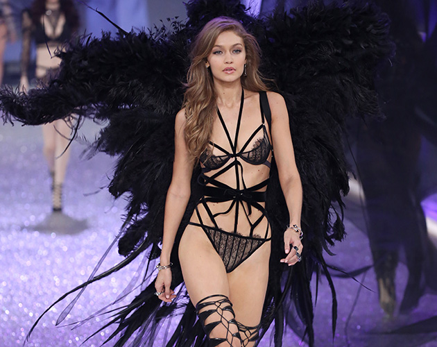 Mandatory Credit: Photo by Matt Baron/BEI/Shutterstock (7529865qx) Gigi Hadid on the catwalk Victoria's Secret Fashion Show, Runway, Grand Palais, Paris, France - 30 Nov 2016