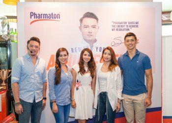 L-R- Sherson Lian (celebrity chef & brand ambassador of Pharmaton), Siti Saleha, Carmenza Alarcon, Sandra Woo and Hansen Lee