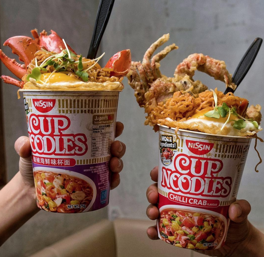 wow this japanese restaurant in singapore sells cup noodles with lobster  lipstiq