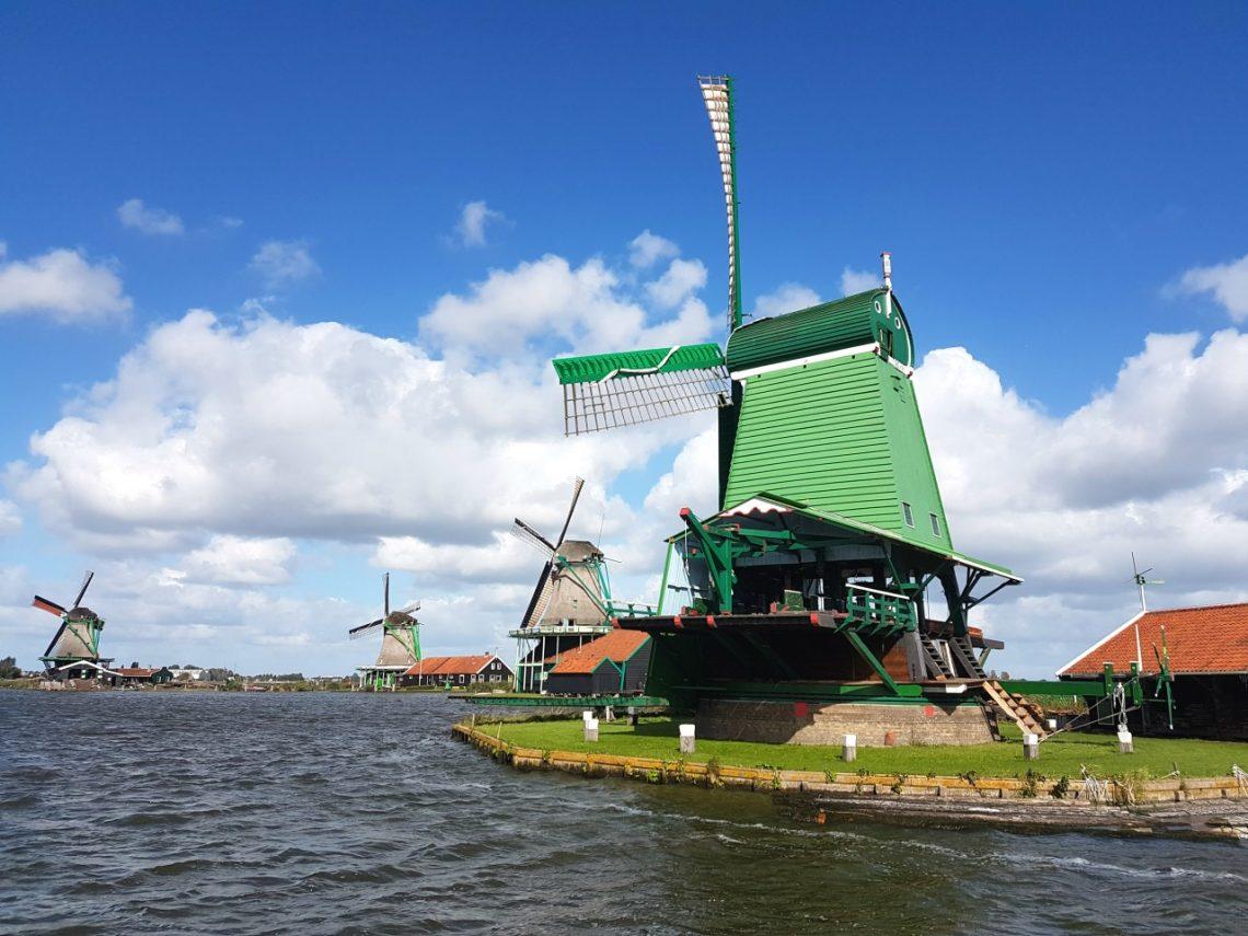 Zaanse Schans is home to the iconic Dutch windmills